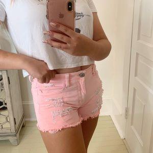 American Eagle Pink Denim Shorts!